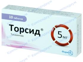 ТОРСИД табл. 5мг №10