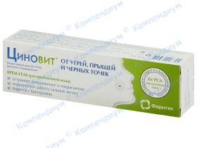 ЦИНОВІТ крем-гель д/пробл. шкіри 35мл
