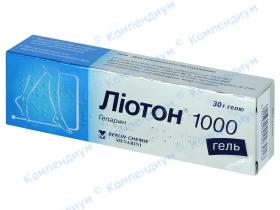 ЛІОТОН 1000 гель туба 30г*