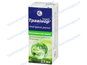 ТРАВІНОР краплі оч.,0.04 мг/мл фл. 2.5 мл