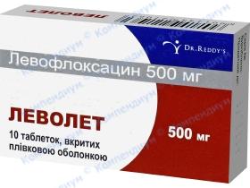 ЛЕВОЛЕТ табл. 500мг №10