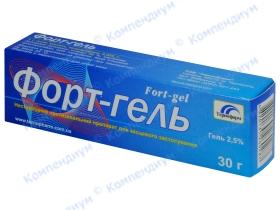 ФОРТ-ГЕЛЬ гель 2,5% туба 30г