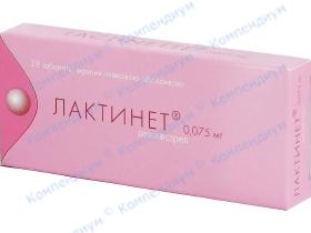 ЛАКТИНЕТ табл. в/о 0,075мг №28
