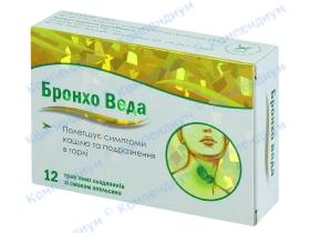 БРОНХО ВЕДА льодяники апельсин №12