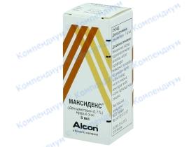 МАКСИДЕКС краплі оч. 0,1% фл. 5мл*
