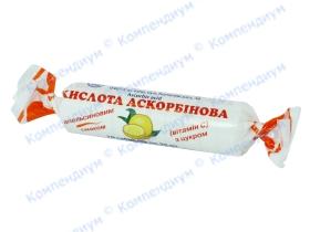 АСКОРБІНКА-КВ табл. 25мг апельсин №10