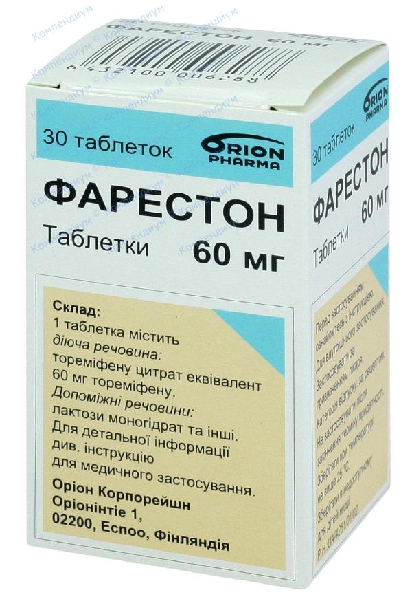 Фарестон табл. 60 мг фл. №30