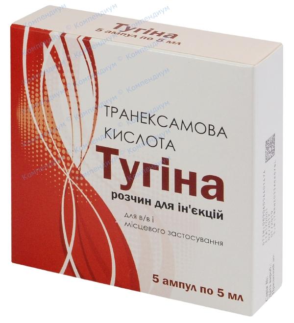 Тугина р-р д/ин. 100 мг/мл амп. 5 мл №5