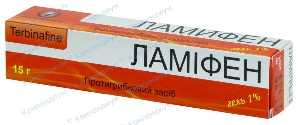 Ламифен гель 1% туба 15 г №1
