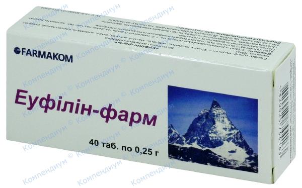 Эуфиллин-Фарм табл. 250 мг №40