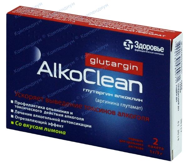 Глутаргин алкоклин пор. 3 г пакет №2