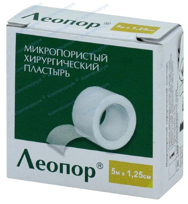 Лейкопластырь Leopore 5 м * 1,25 см, б/катушки