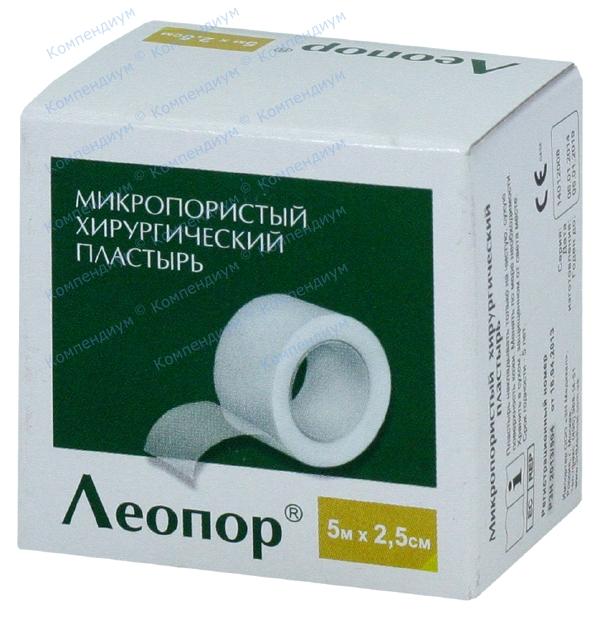 Лейкопластырь Leopore 5 м * 2,5 см, б/катушки