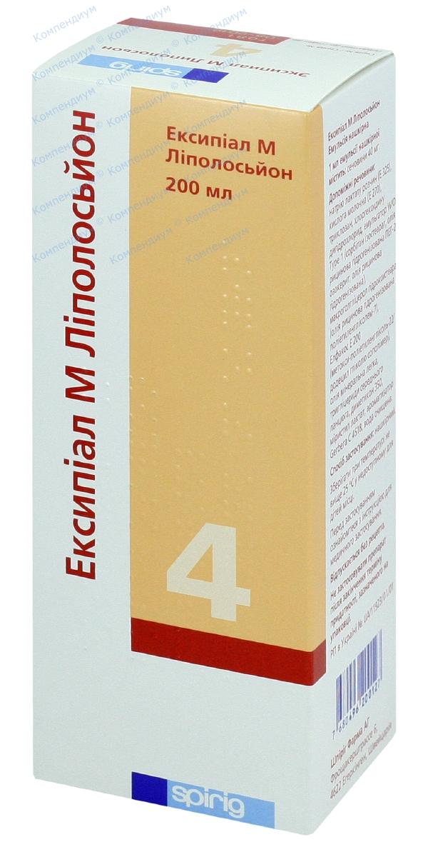 Эксипиал М липолосьон эмул. накожная 40 мг/мл фл. 200 мл №1