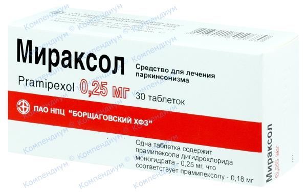 Мираксол табл. 0,25 мг №30