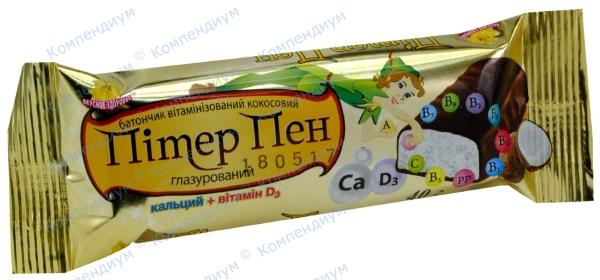 Питер Пен диабет. добавка с кальцием в молоч. глазури 40 г
