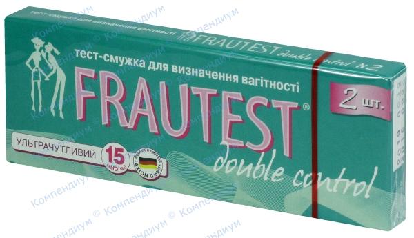 Тест для определения беременности Фраутест дабл контроль тест-полоска №2