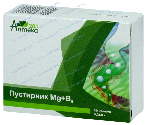 Пустырник Mg + B6 капс. 250 мг №30