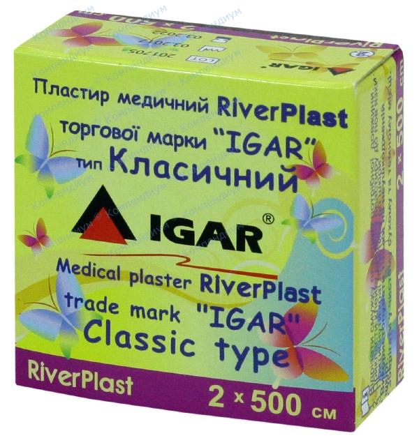 Лейкопластырь Риверпласт игар 2 см х 500 см, клас., хлоп. осн.