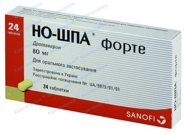 Но-шпа форте табл. 80 мг №24