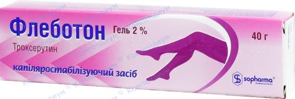 Флеботон гель 2% туба 40 г №1