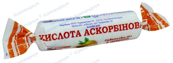 Аскорбиновая кислота с глюкозой табл. 3 г, апельсин №10