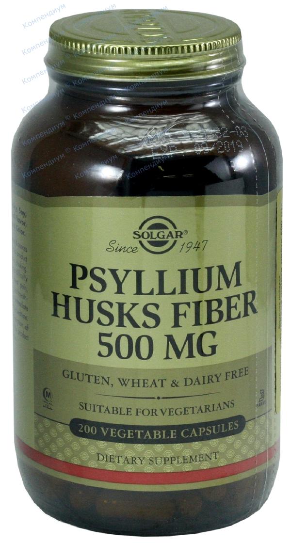 Псилиум клетчатка кожицы листа капс. 610 мг №200