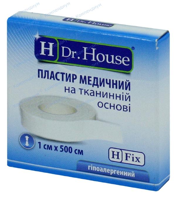 Лейкопластырь Н др. Хаус 1 см х 500 см, на тканевой основе