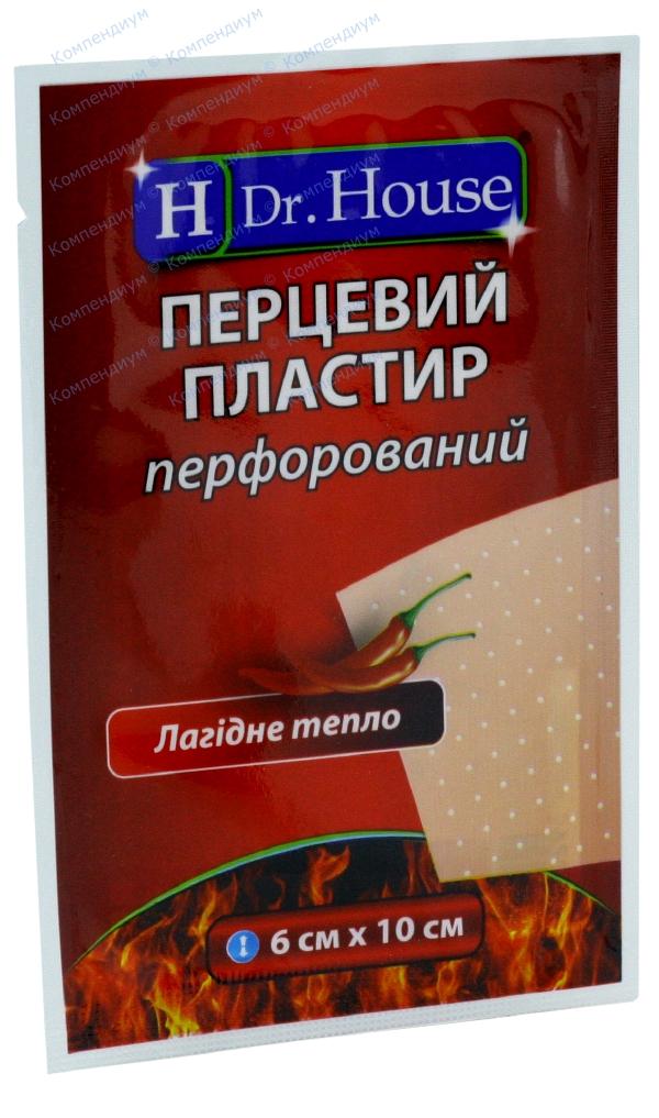 Лейкопластырь перцовый Н др. Хаус 6 см х 10 см, перфориров.