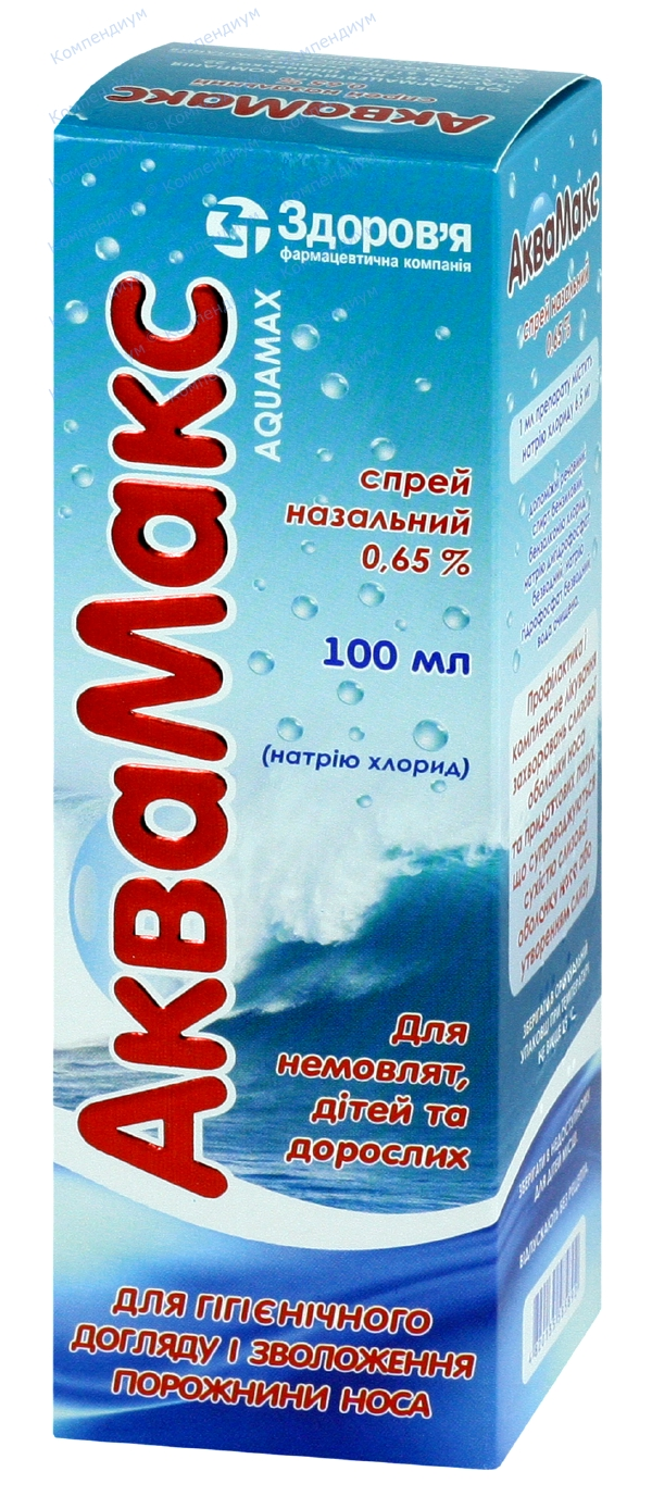 Аквамакс спрей назал. 0,65% фл. 100 мл №1