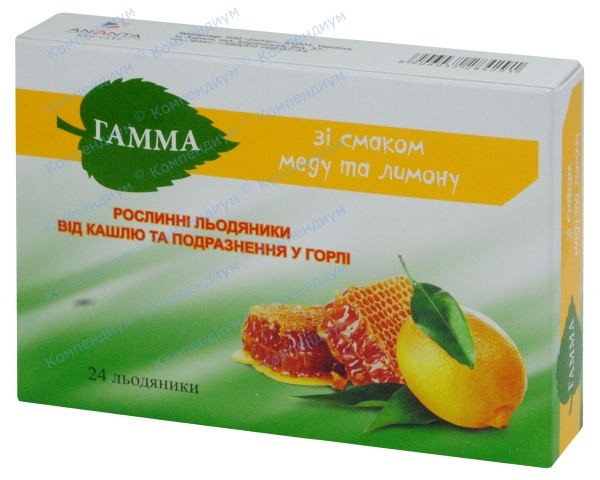 Гамма леденцы мед-лимон №24