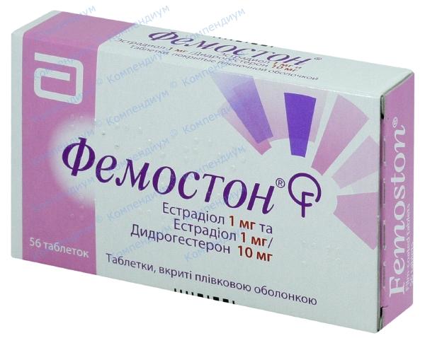 Фемостон табл. п/о 1 мг + 10 мг №56
