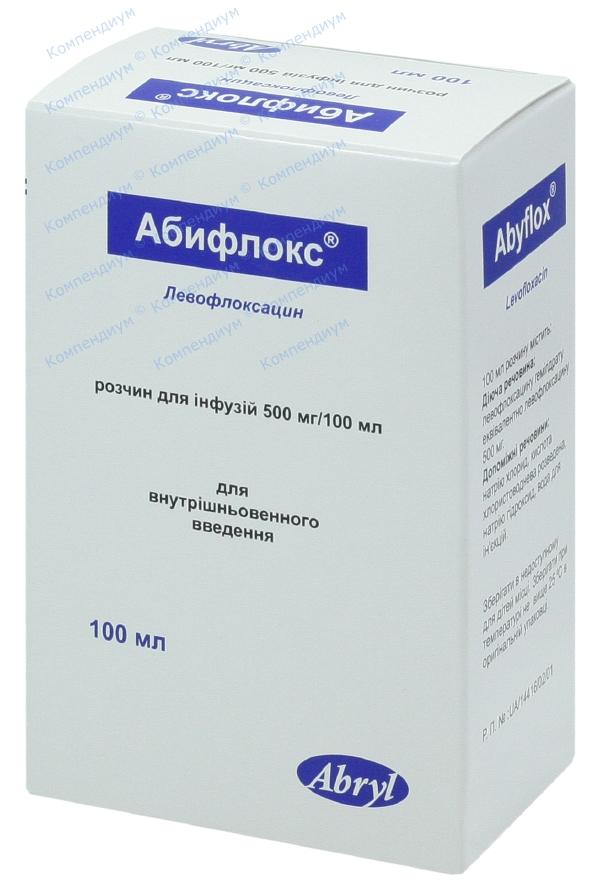 Абифлокс р-р д/инф. 500 мг/100мл фл. 100 мл №1