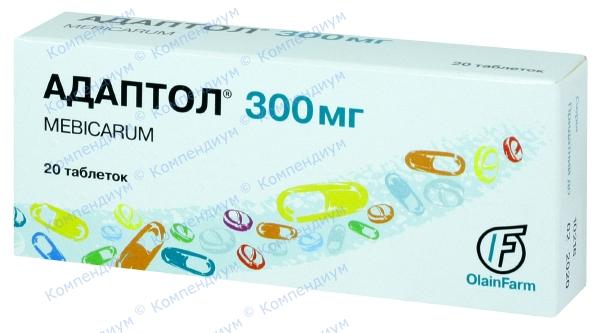 Адаптол табл. 300 мг №20