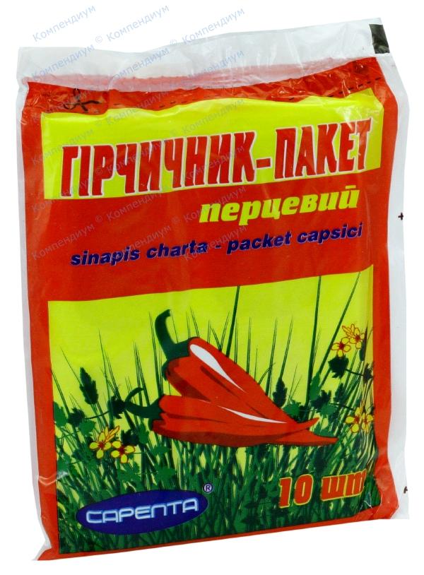 Горчичник-пакет перцовый коробка №10