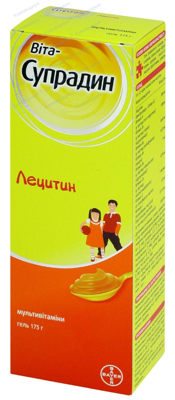 Вита-супрадин лецитин гель туба 175 г