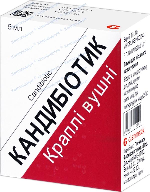 Кандибиотик кап. уш. фл. 5 мл №1