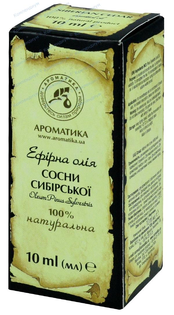 Масло эфирное сосны сибирской 10 мл