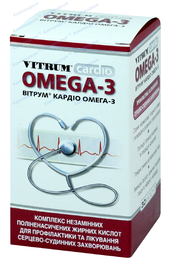 Витрум кардио омега-3 капс. фл. №30