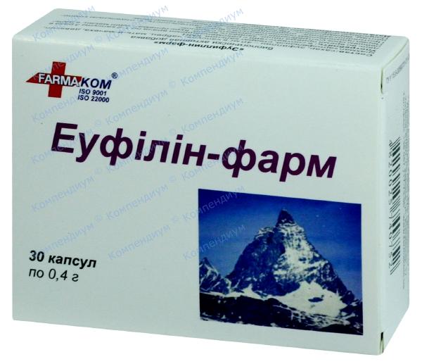 Эуфиллин-Фарм капс. 400 мг №30