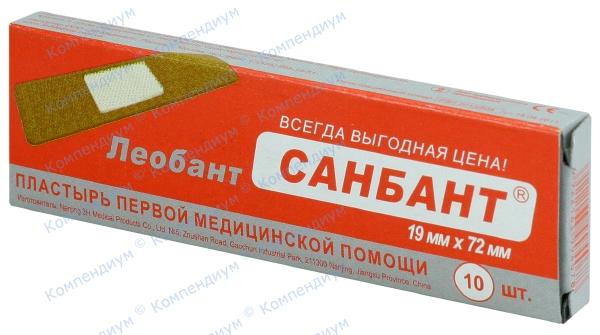 Лейкопластырь Leobant 19 мм * 72 мм Sun Bant №10