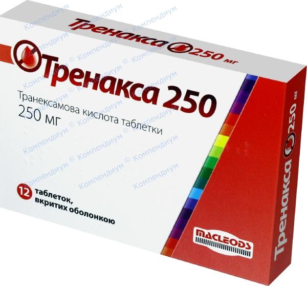 Тренакса табл. п/о 250 мг №12