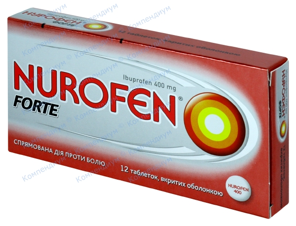 Нурофен форте табл. п/о 400 мг №12