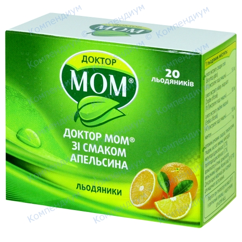 Доктор Мом паст. від кашлю №20 апельсин