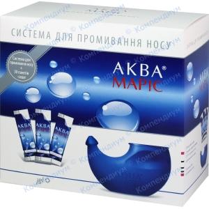 Аква Маріс система д/промив.носу + саше №30