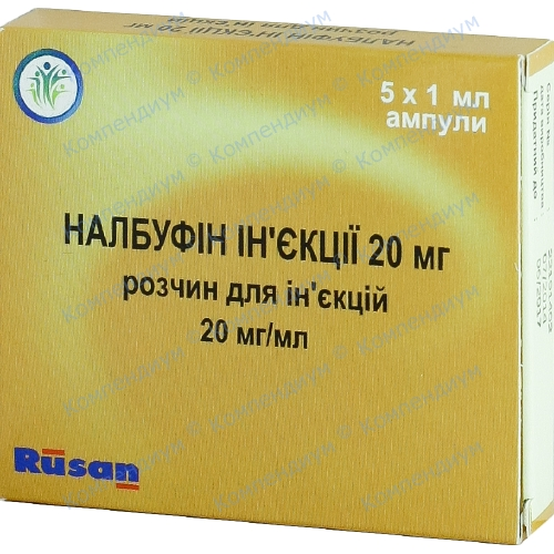 Налбуфин р-р д/ин.20мг/мл 1мл №5
