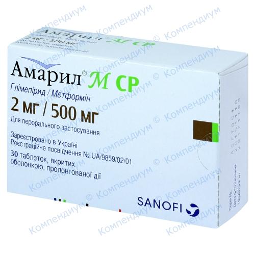 Амарил-м таб.п/о 2мг/500мг №30