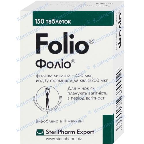 Фолио диет. доб. табл. №150