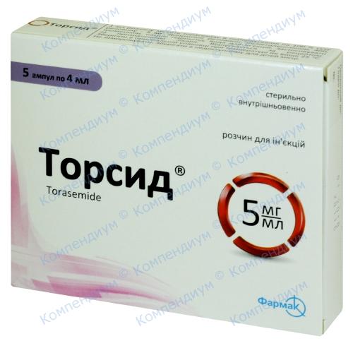 Торсид р-р д/ин.амп. 5мг/мл 4мл N5