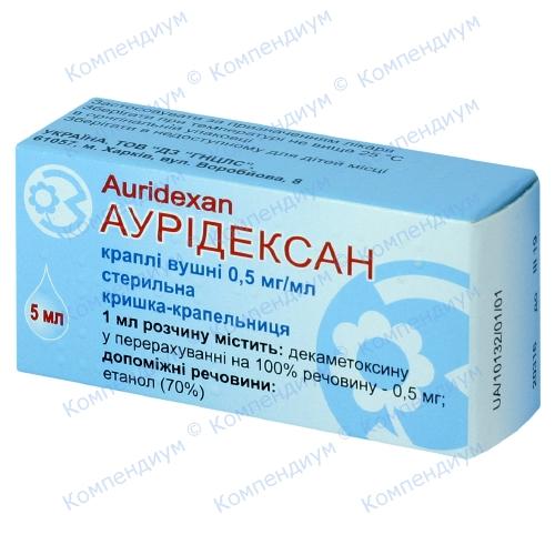 Аурідексан крап.вуш.0,5мг/мл фл.5мл фото 1, Aptekar.ua